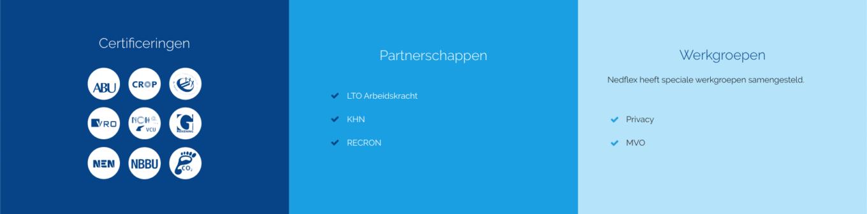 Certificeringen, partnerschappen en werkgroepen