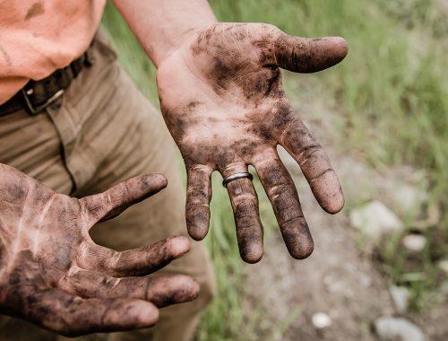Agrarisch vieze handen